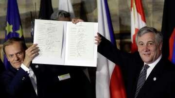 Лидерите на ЕС подписаха в Рим обща декларация за бъдещето на съюза