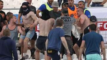 Кръв по трибуните след мача Англия - Русия