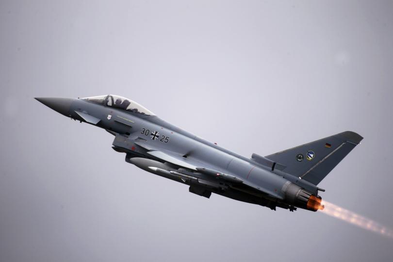 """Пилот загина при сблъсъка на две изтребителя """"Тйфун"""" на """"Юрофайтър"""""""