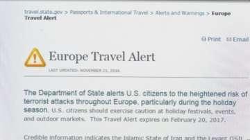 Предупреждение за терористична опасност в Европа по празниците