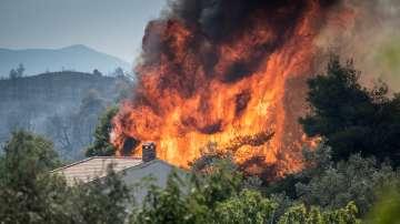 Близо 400 пожарникари участват в гасенето на пожара на остров Евбея