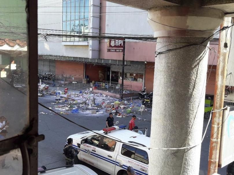 души бяха ранени взрив бомба близост мол южните филипини