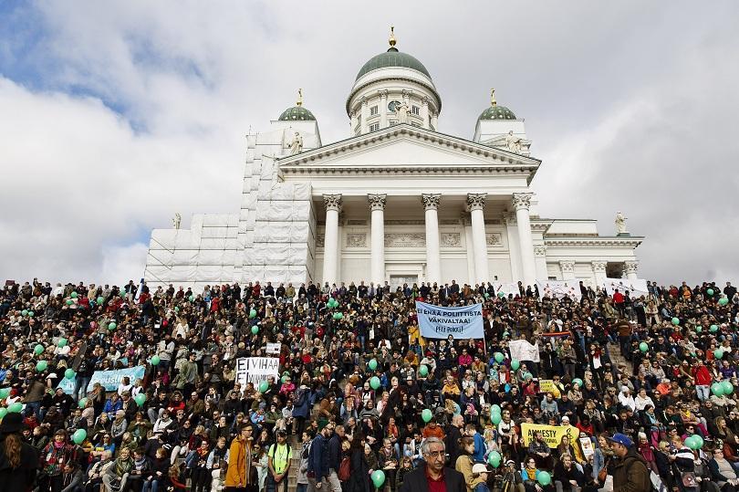 Във Финландия демонстрираха срещу расизма