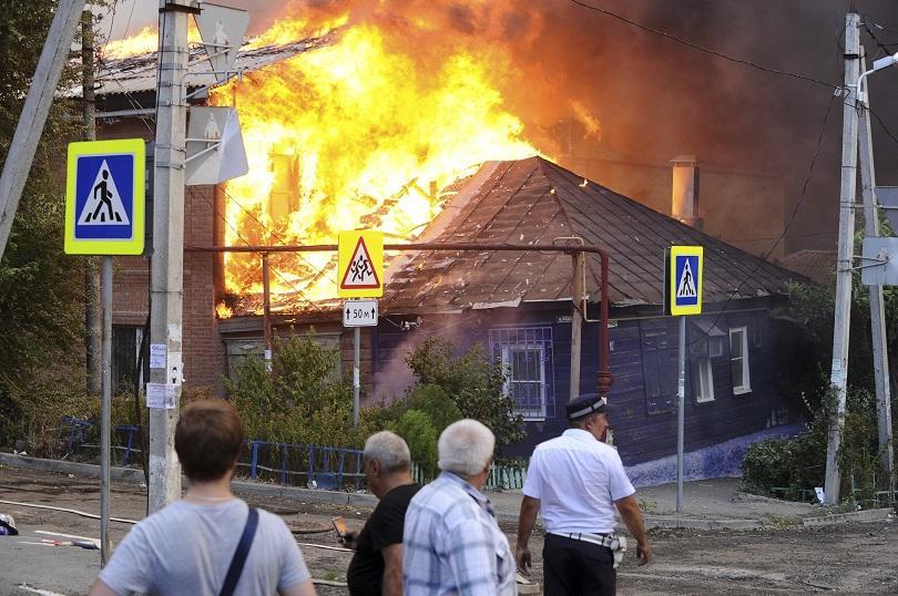 пожар ростов дон обхвана 000 обявена извънредна ситуация