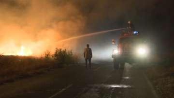 Трима души са задържани за пожара в Сакар планина