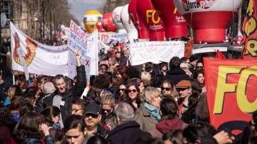 Държавните служители във Франция излязоха на общонационален протест