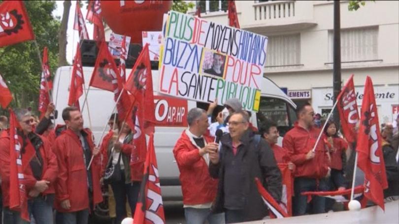 Снимка: Медици от спешната помощ във Франция излязоха на протест