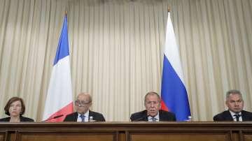 Френските министри на външните работи и на отбраната са на посещение в Москва