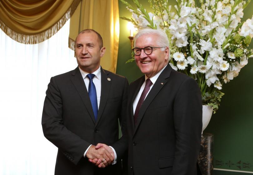 Президентът Радев се срещна с президента на Германия Франк-Валтер Щайнмайер