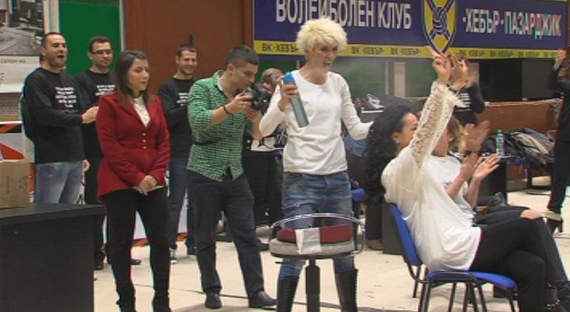Наша фризьорка подобри рекорд на Гинес, за да помогне на парализиран джудист