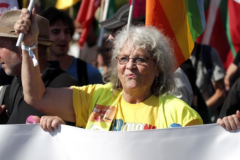 франция проведе протест срещата