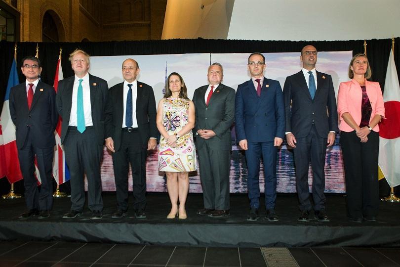Външните министри на страните от Г-7 с обща позиция срещу