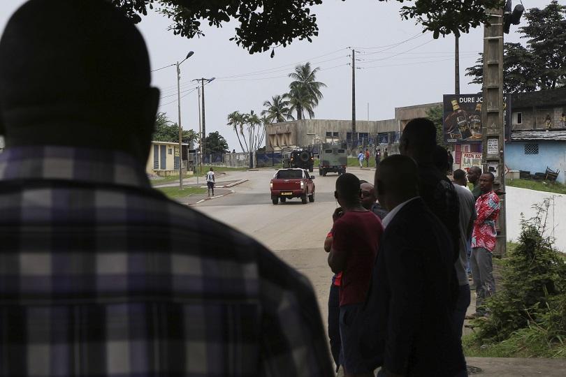 Президентът на Габон Али Бонго, който е извън страната от