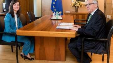 Мария Габриел получи подкрепата на Жан-Клод Юнкер