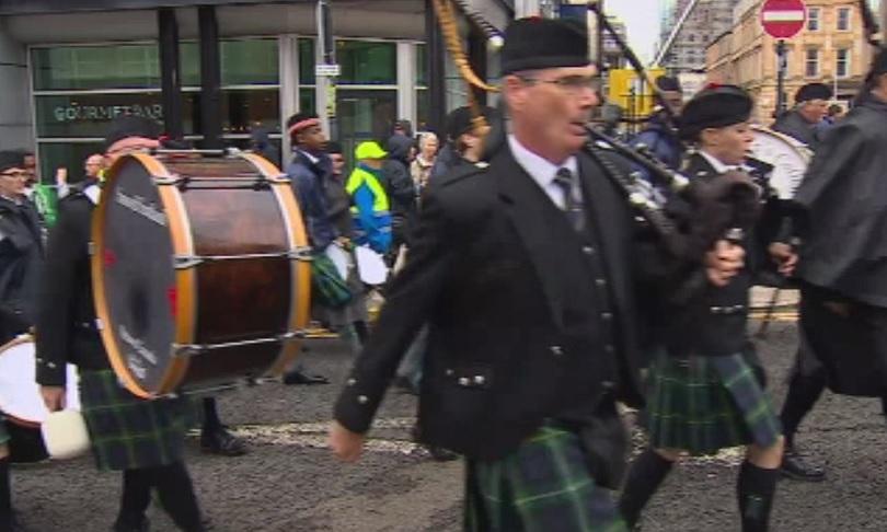 В Глазгоу се провежда Световен шампионат за гайдари. 214 оркестъра