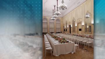 Прием с хора от храна в Националната галерия предизвика недоволство