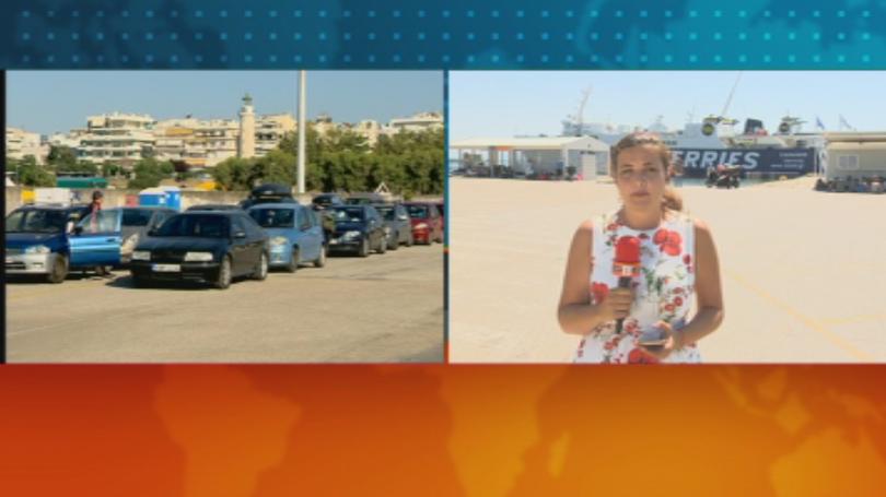 Започна транспортирането на туристите, които бяха блокирани на гръцкия остров