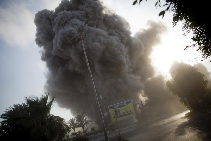 Вчера Израел нанесе най-мащабните дневни бомбардировки в Ивицата Газа от военната операция преди четири години