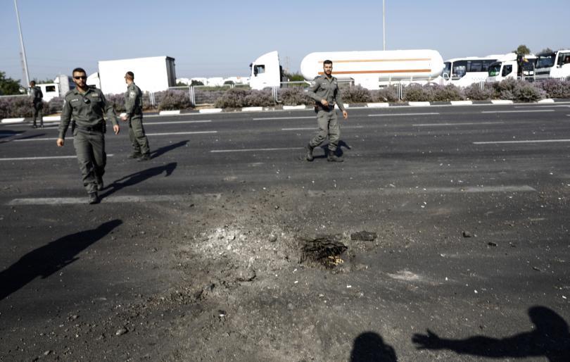 снимка 1 Израелската армия нанасе удари по Ивицата Газа в отговор на ракетното нападение
