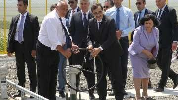 Премиерът Борисов и турският енергиен министър откриха нов транзитен газопровод