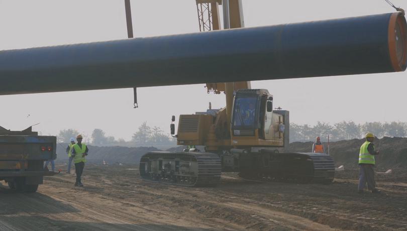 Снимка: Започна строежът на преносния газопровод за Балкански поток през България