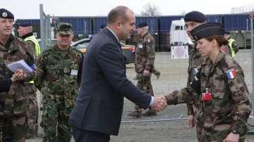 Президентът Радев присъства на учението на френския корпус за бързо реагиране