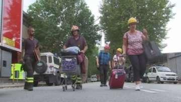 Поредица от трусове в Италия, в Генуа евакуират хора след срутването на моста