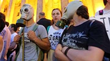 Поредна нощ на протести в грузинската столица Тбилиси