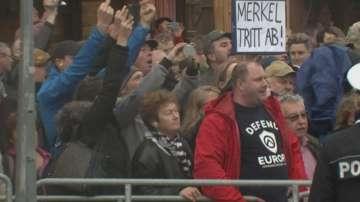 Демонстрации в Дрезден срещу Меркел