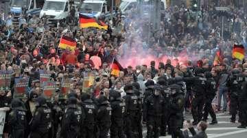 Най-малко шестима души са ранени при сблъсъците в германския град Кемниц