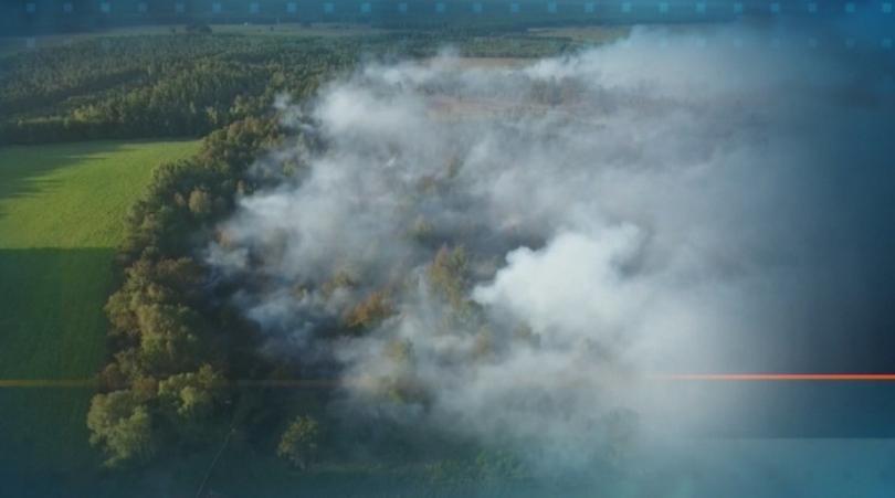 В Германия повече от две седмици гори торф след ракетни