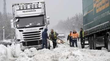 Снегът създава проблеми в Южна Германия и Австрия