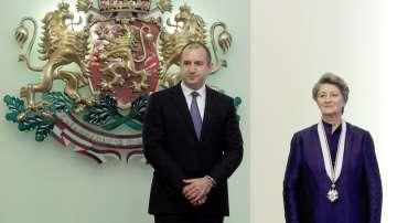 Президентът Радев удостои Мария Гигова с орден Стара планина - първа степен