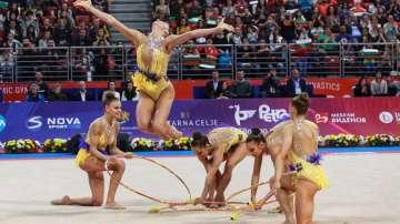 Ансамбълът по художествена гимнастика спечели злато в Баку