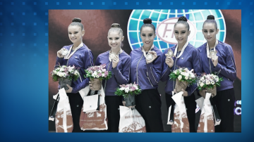 Българският ансамбъл спечели златен медал на обръчи и бухалки в Минск