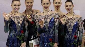 Златни медали за Ансамбъла на България по художествена гимнастика