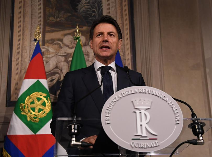 италианският премиер джузепе конте посещение сащ