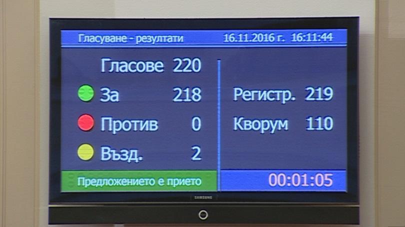 Депутатите гласуваха оставката на кабинета Борисов
