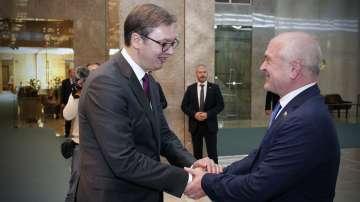 Председателят на българския парламент се срещна със сръбския президент