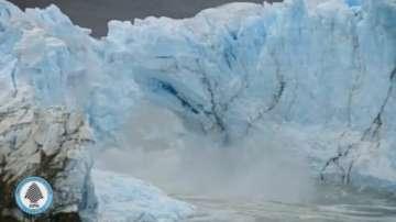 Пропука се един от трите патагонски глетчера в Аржентина
