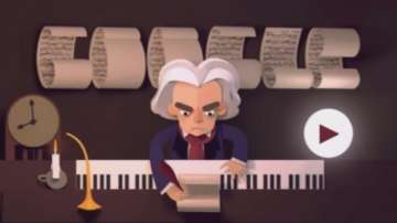 Гугъл с дудъл за 245-годишнината от рождението на Бетовен