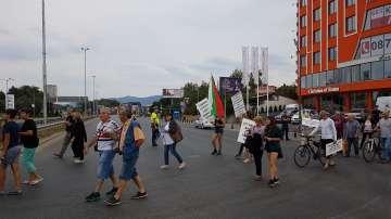 Жители на квартал Горубляне блокираха столичния булевард Цариградско шосе