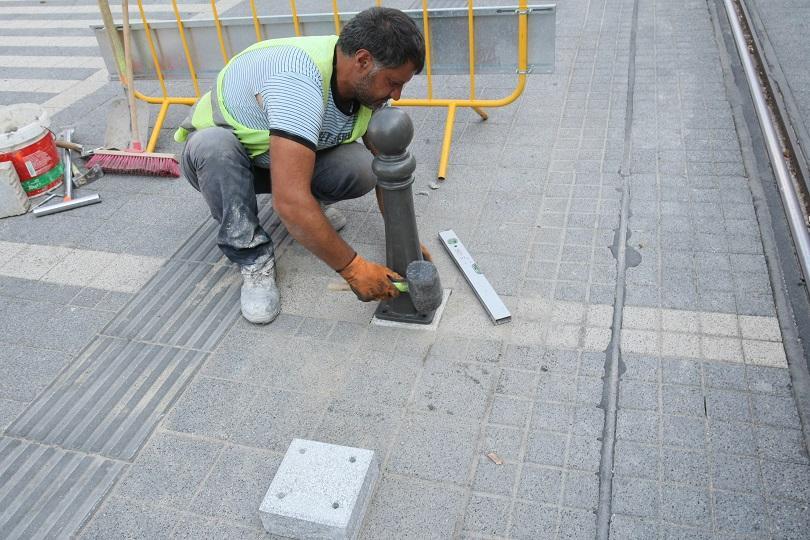 Започва премахването на бетонните ограничители около трамвайните релси на ул.