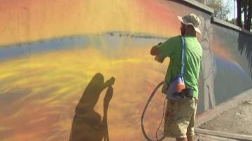 Мездра в графити - модерното стрийт изкуство стават част от железничарския гард