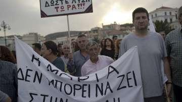 Протести на остров Лесбос срещу мигрантската криза