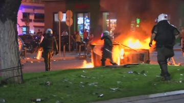 Сблъсъци между демонстранти и полиция в Гърция