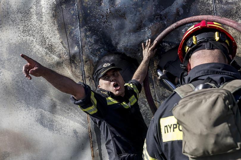 Снимка: Продължава гасенето на 4 големи горски пожара в Гърция