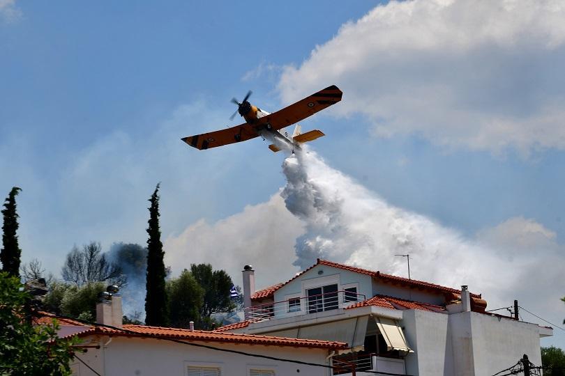 жега силни ветрове създават опасност пожари гърция