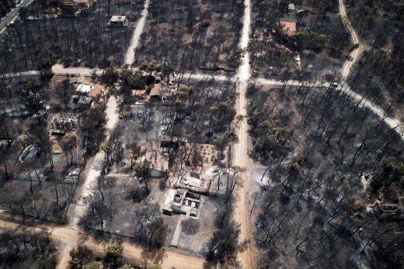 Гръцките власти имат сериозни индикации, че пожарът край Атина е бил умишлен