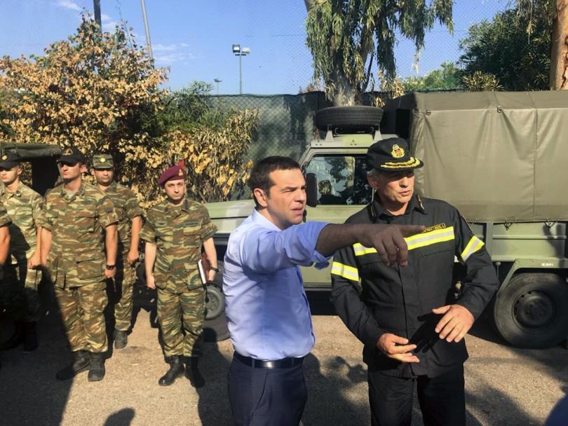 След огнената стихия в Гърция: Премиерът Ципрас посети опустошените райони